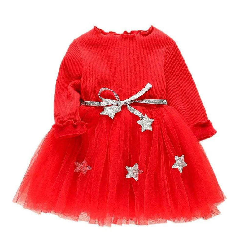 """A Starry Holiday"" Star-Themed Tutu Dress - The Palm Beach Baby"