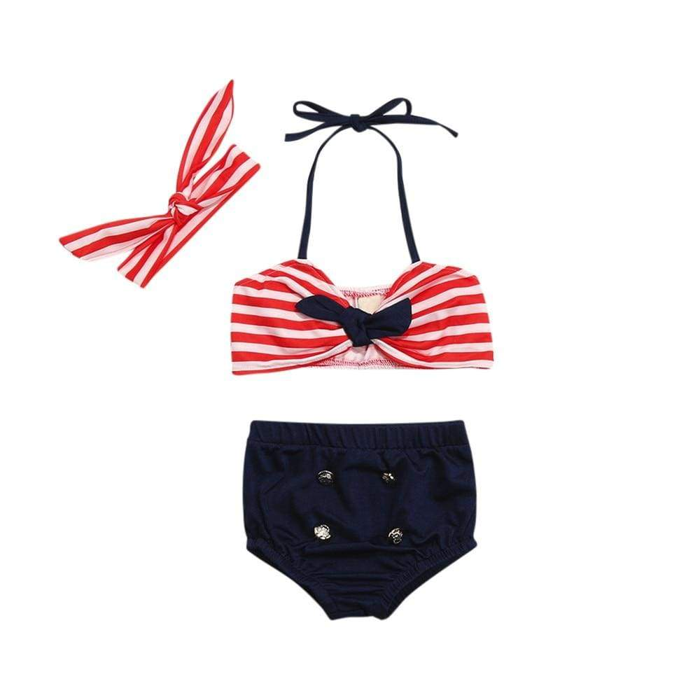 """Red White And Blue Baby!"" 2-PC Swimsuit Set - The Palm Beach Baby"