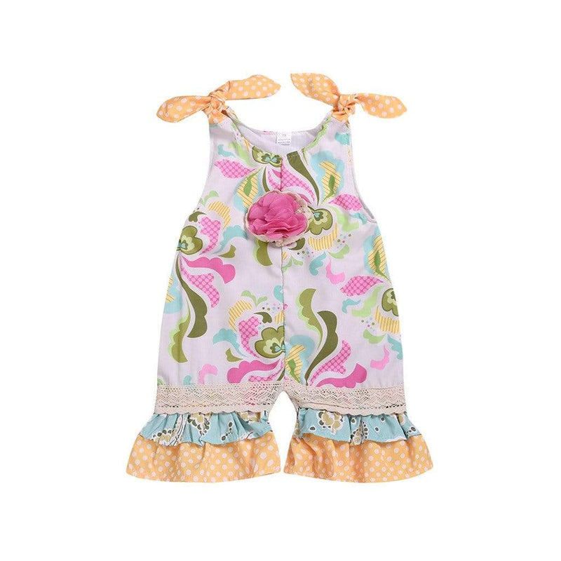 """Reine"" Boho Chic Romper - The Palm Beach Baby"