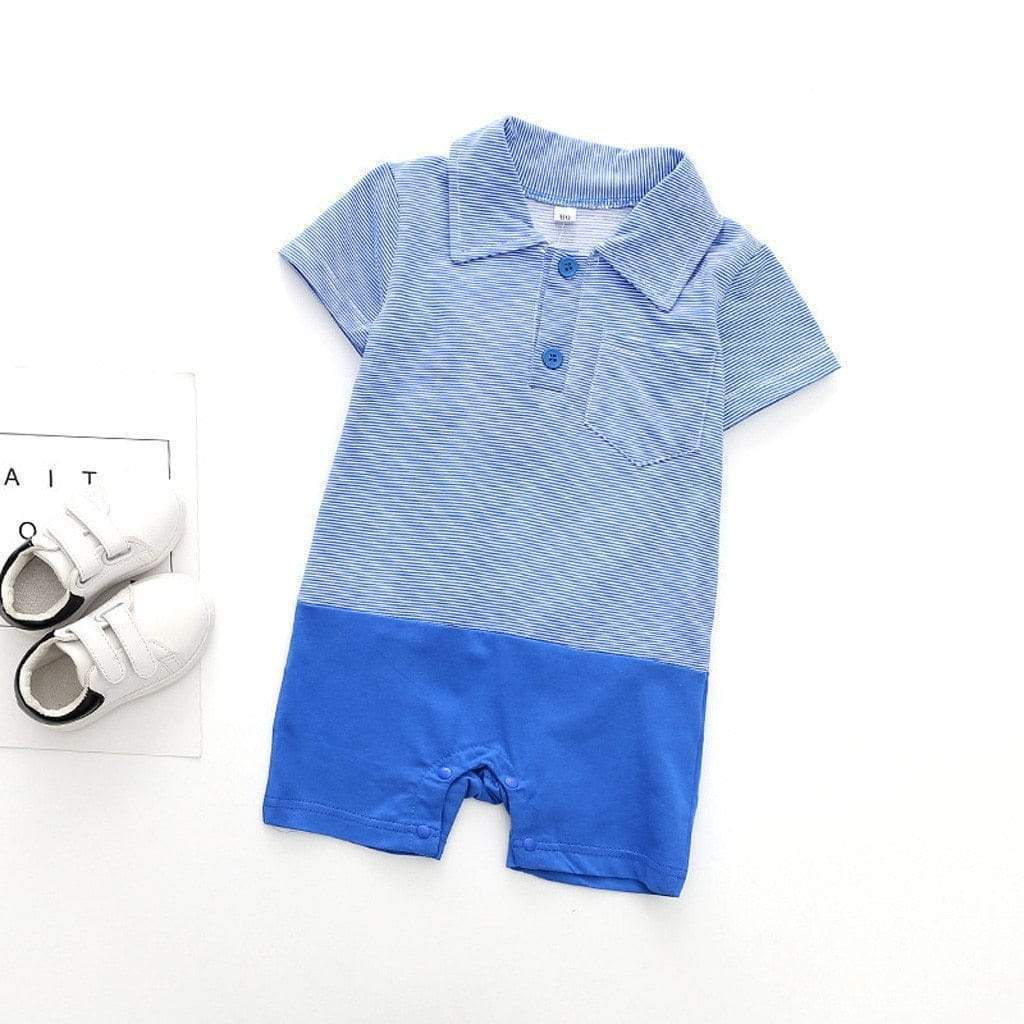 """Sailing, Sailing"" Polo-Style Romper - The Palm Beach Baby"