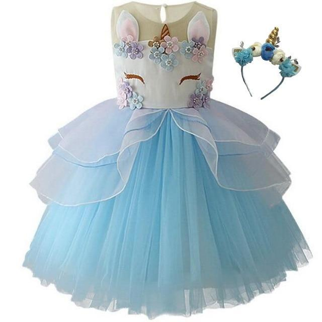 Unicorn Princess Party Dress  2 PC Set - The Palm Beach Baby