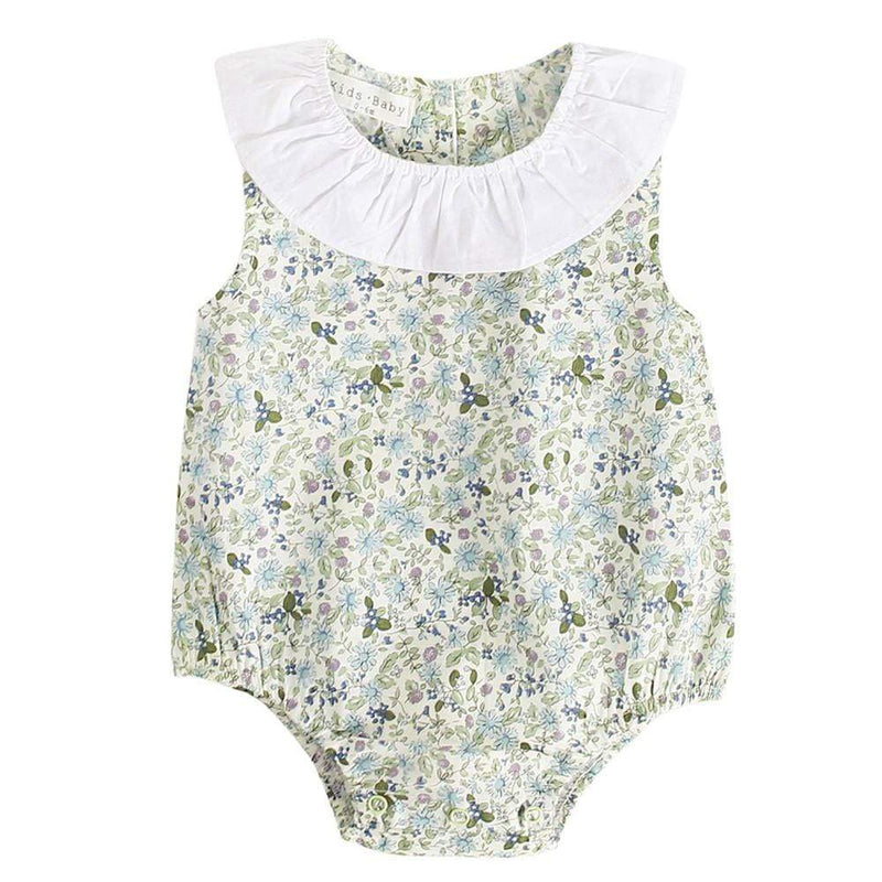 """Summer Fleurs"" Baby's Romper - The Palm Beach Baby"