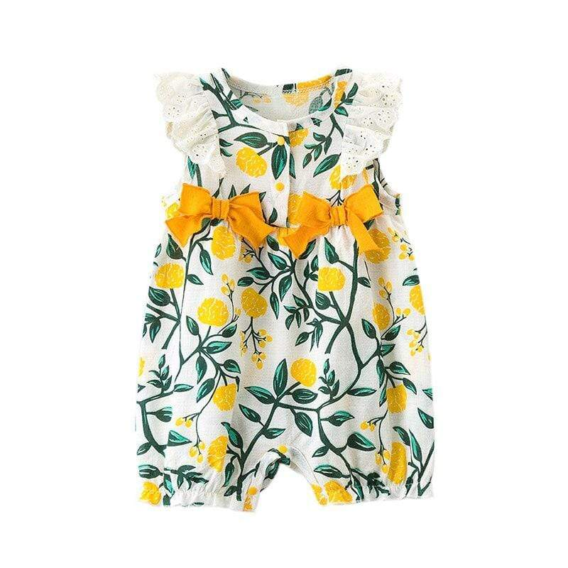 """Summer Garden"" Print Romper - The Palm Beach Baby"