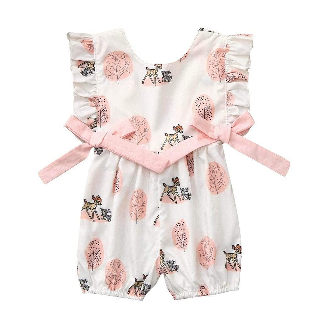"Baby & Kids Apparel Sweet ""Baby Deer"" Ruffled Romper -The Palm Beach Baby"