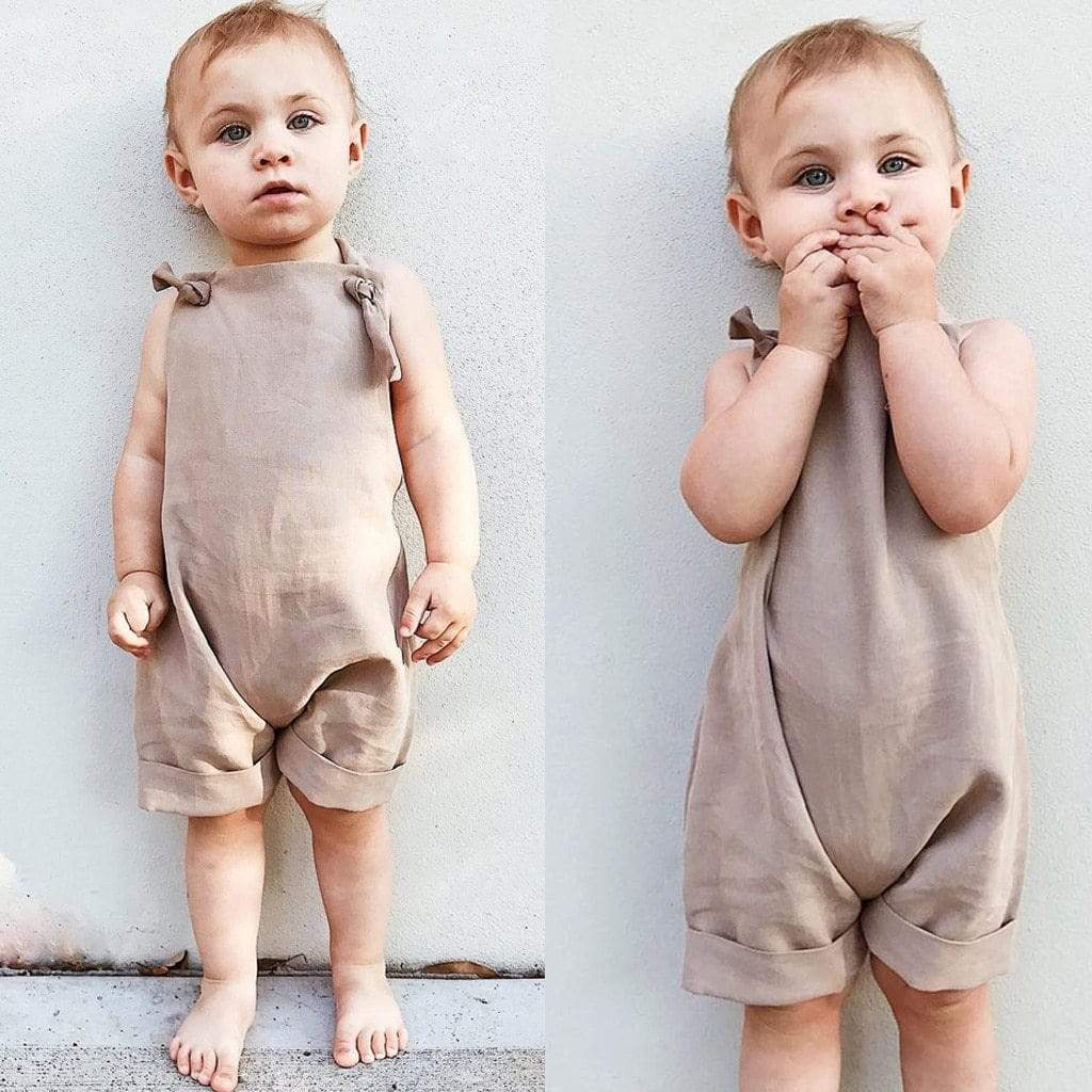"The ""Courtney"" Romper Overalls - The Palm Beach Baby"