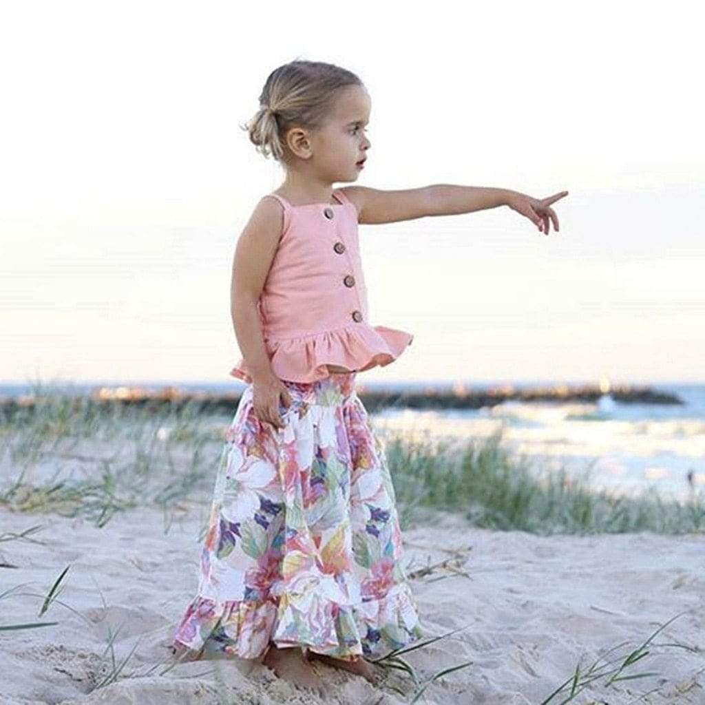 "The ""Kylee"" 2 PC Floral Skirt Set - The Palm Beach Baby"