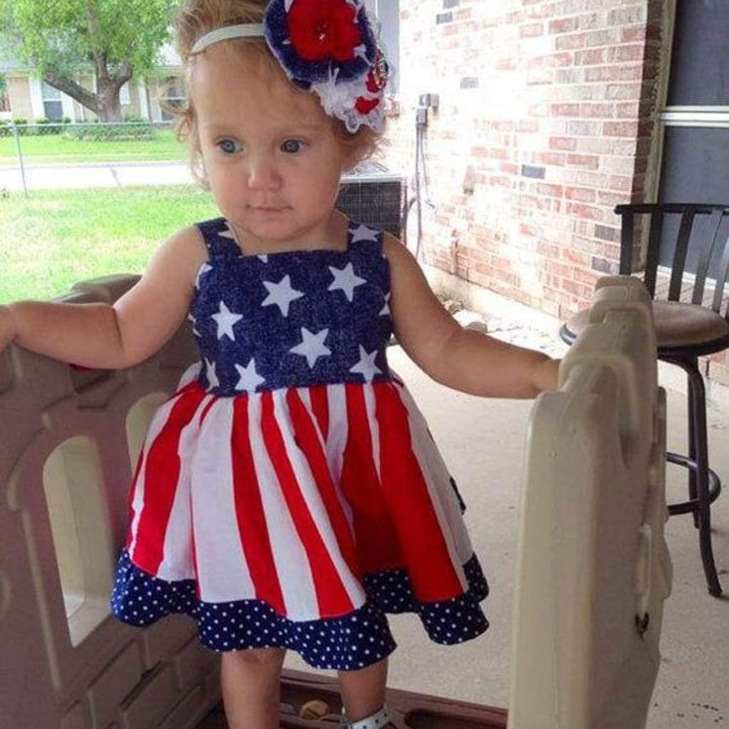 The Stars And Stripes Party Dress - The Palm Beach Baby