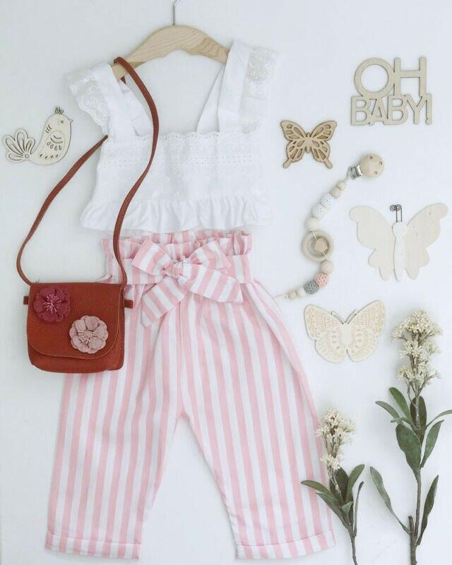 "Baby & Kids Apparel The ""Tammi"" 2 PC Pants Set -The Palm Beach Baby"