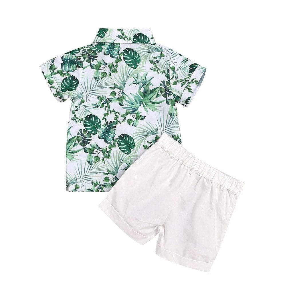 """Tropical Cool"" Casual Boys Shorts Set - The Palm Beach Baby"