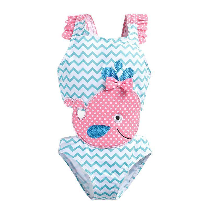 """Whale Of A Time"" 1 Piece Swimsuit - The Palm Beach Baby"