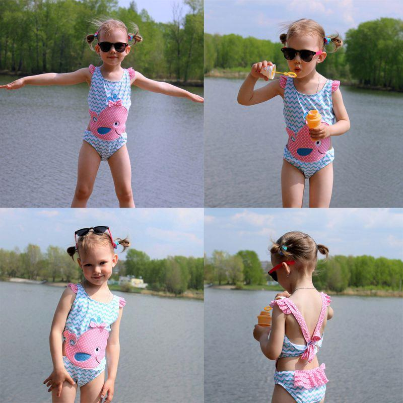 "Baby & Kids Apparel ""Whale Of A Time"" 1 Piece Swimsuit -The Palm Beach Baby"