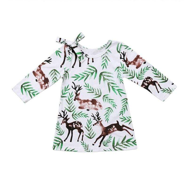 "Cute ""Baby Deer"" Print Dress - The Palm Beach Baby"