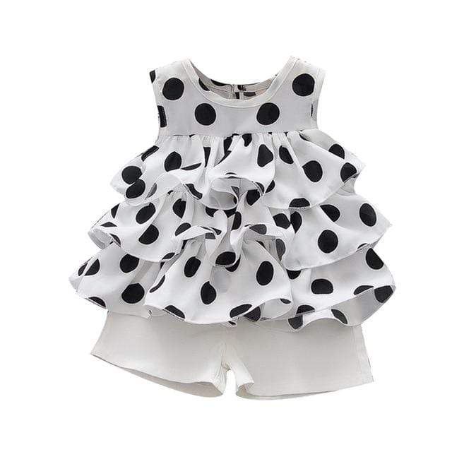 "The ""Poppi""  2 PC Polka Dot Shorts Set - The Palm Beach Baby"