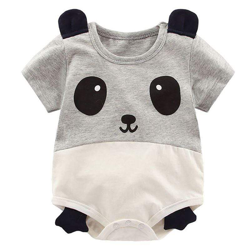 """Wild About Animals"" Babies Romper - The Palm Beach Baby"