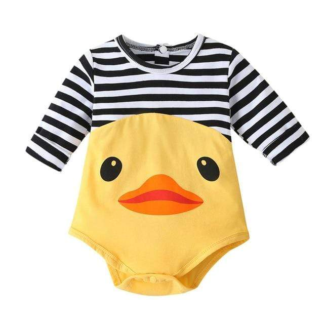 """Little Ducky"" Babies Romper - The Palm Beach Baby"