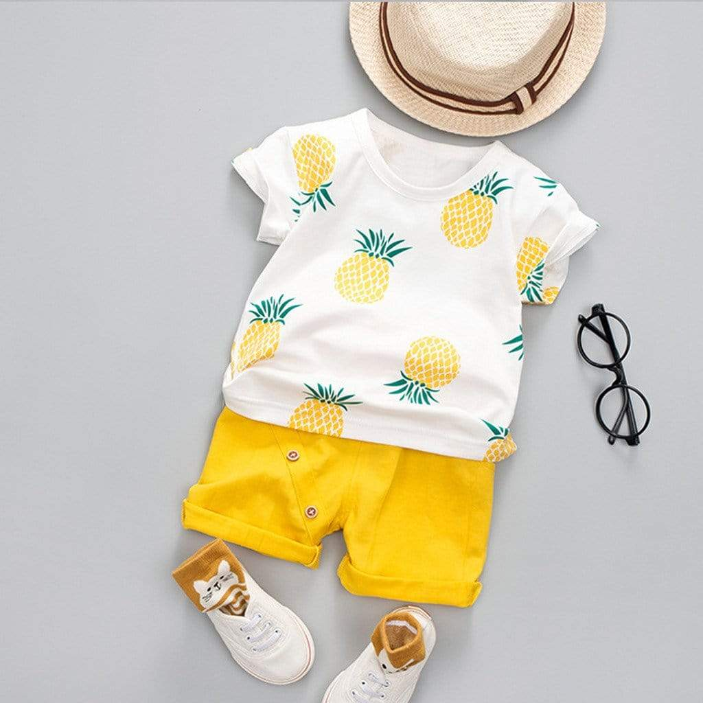 Pineapple Print Boys Clothes Set - The Palm Beach Baby