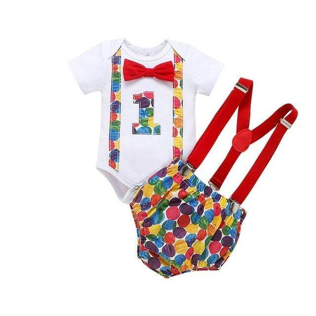 "The ""Davidson"" 1ST  Birthday 2 PC Romper Set - The Palm Beach Baby"