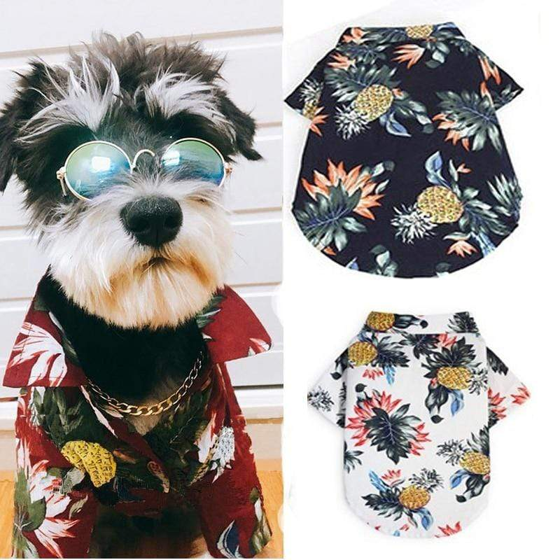 """Palm Beach Cool"" Tropical Shirt For Dogs - The Palm Beach Baby"
