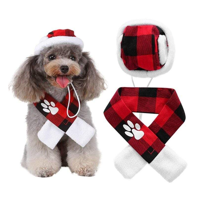 Winter Plaid Scarf and Hat Set For Furry Babies - The Palm Beach Baby