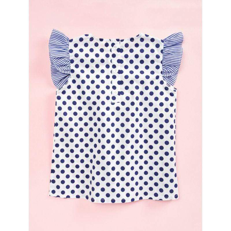 """Amelia"" Polka Dot Ruffled Dress - The Palm Beach Baby"