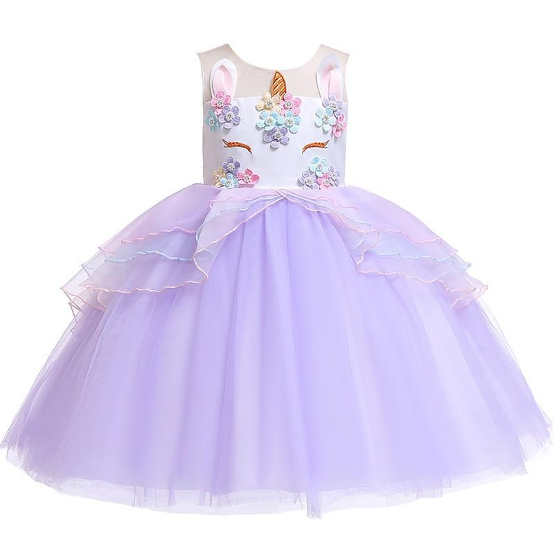 Elegant Unicorn-Themed Voile Dress - The Palm Beach Baby