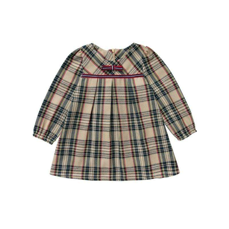 Fall Plaid Smocked Dress - The Palm Beach Baby