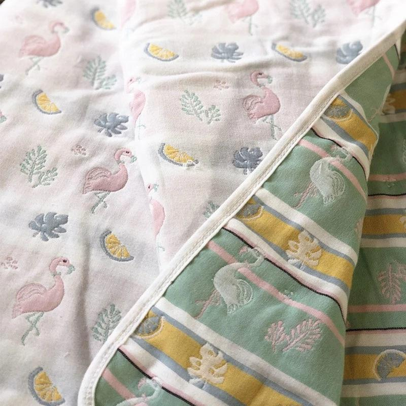 6-Layered Cotton Swaddle Blanket - The Palm Beach Baby