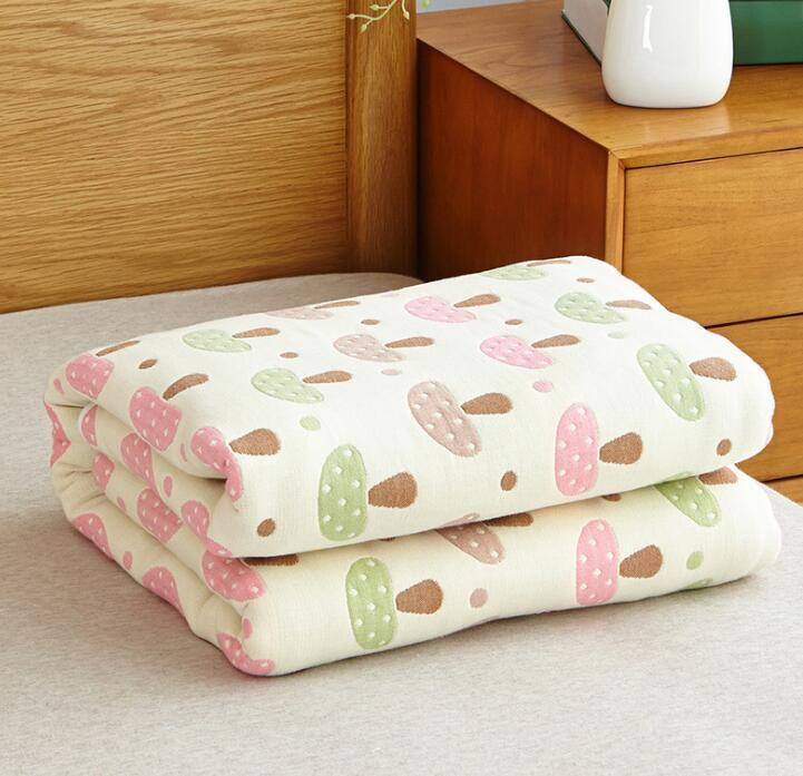 Six-Layered Muslin Cotton Summer Blanket - The Palm Beach Baby