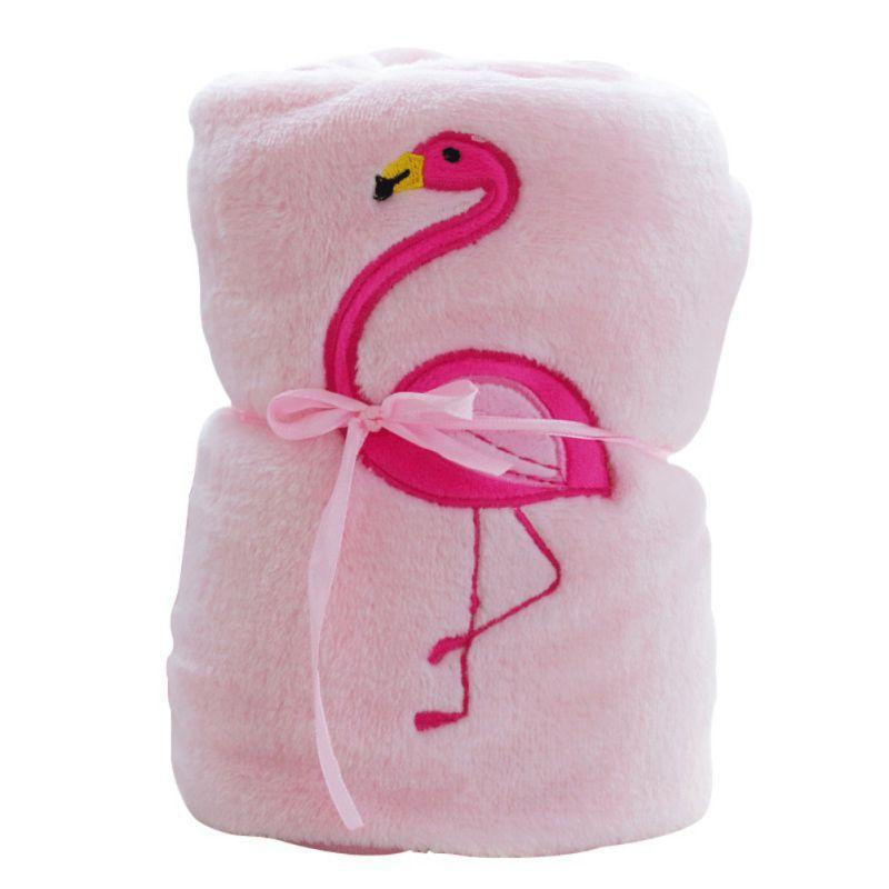 """Flamingo, Baby!"" Pink Flannel Blanket - The Palm Beach Baby"