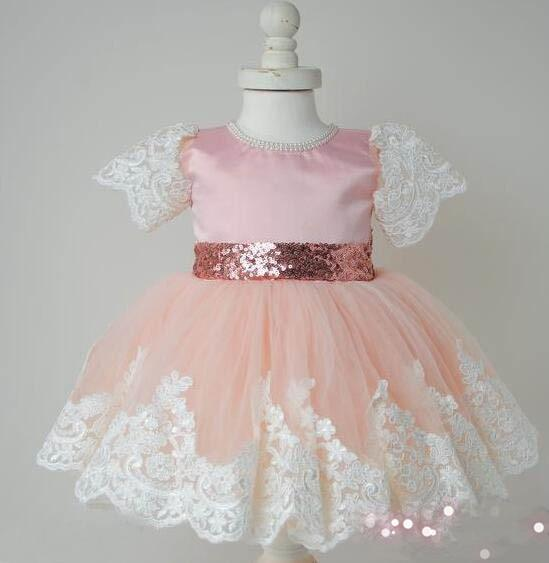 "Baby & Kids Apparel Chic ""Elise"" Lace Occasion Dress With Big Bow -The Palm Beach Baby"