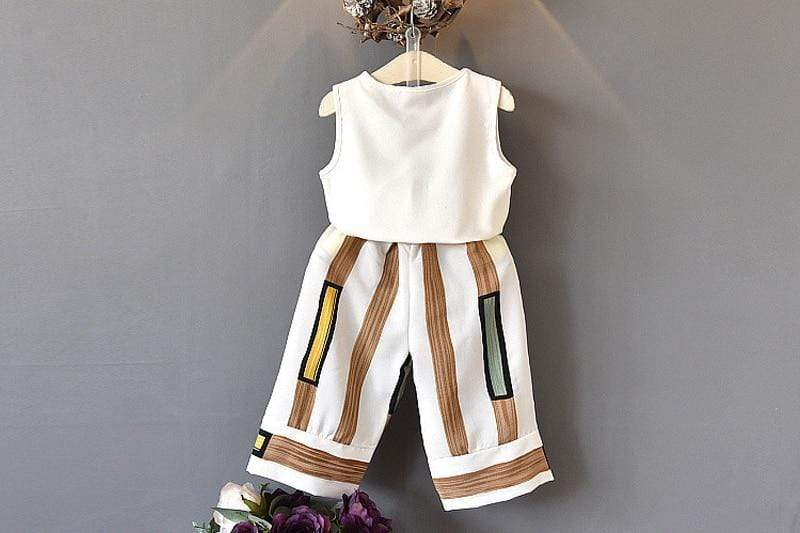 "Chic ""Laura"" 2 PC Striped Pants Set - The Palm Beach Baby"