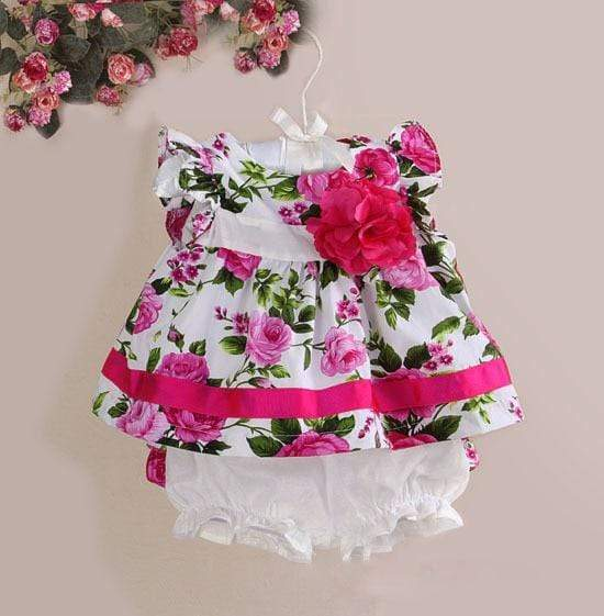 """Hadley"" Floral Dress With Bloomers - The Palm Beach Baby"