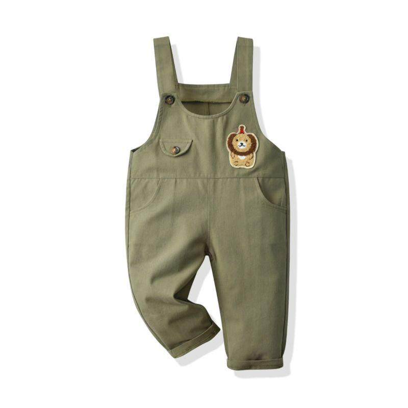 """Larry The Lion"" Overall Pants - The Palm Beach Baby"