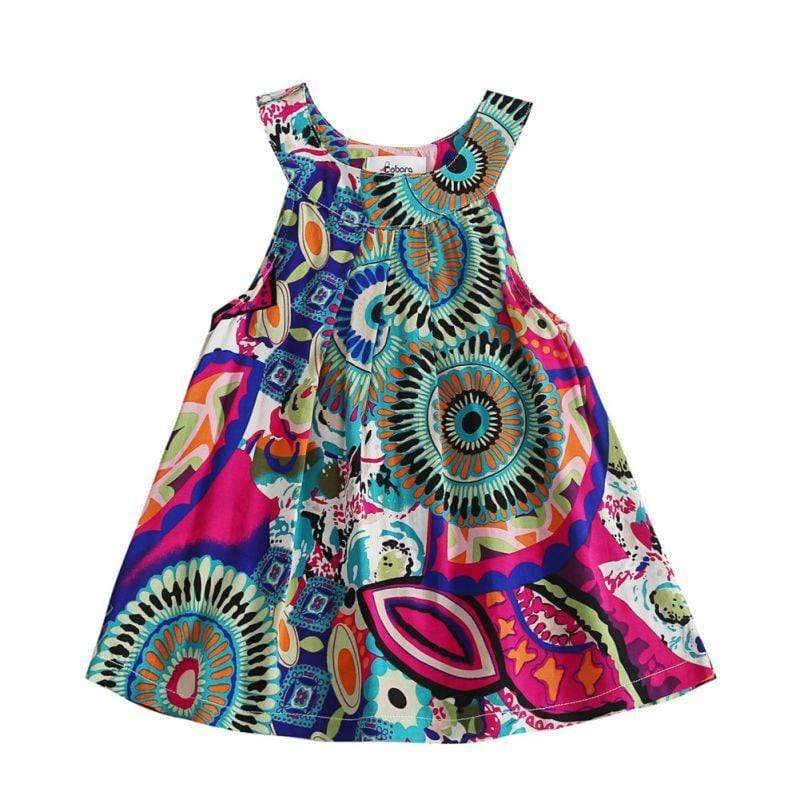 """Summer Cute"" Retro Print Casual Dress - The Palm Beach Baby"