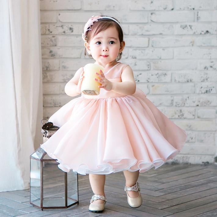 "Baby & Kids Apparel The Elegant ""Eden"" Pink Chiffon Confection Dress -The Palm Beach Baby"