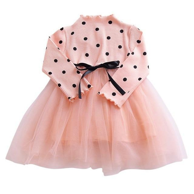 Princess Bow Polka Dot Tutu Party Dress (3 Colors) - the-palm-beach-baby.myshopify.com