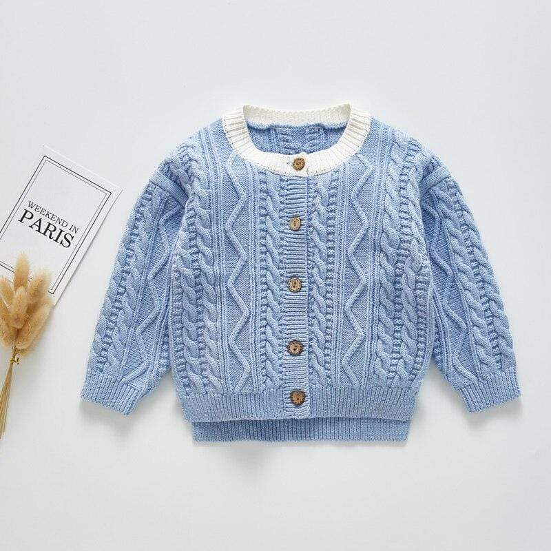 Knit Children's Cardigan Sweater (5 Colors) - The Palm Beach Baby