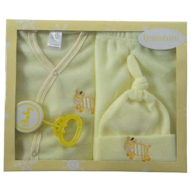 4 Piece Fleece Newborn Set - Yellow - the-palm-beach-baby.myshopify.com