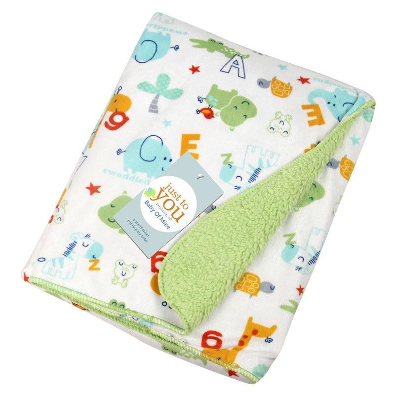 102 x 76 cm Super-Soft Cotton Baby Blanket - The Palm Beach Baby