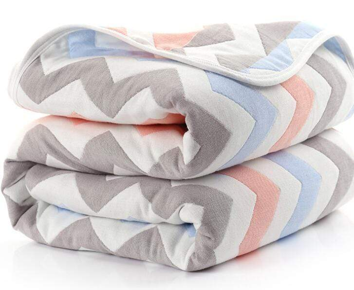 6-Layered Thick Swaddle-Blanket (6 Designs) - The Palm Beach Baby