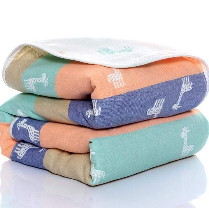6 Layered Cotton Muslin Summer Blanket - The Palm Beach Baby