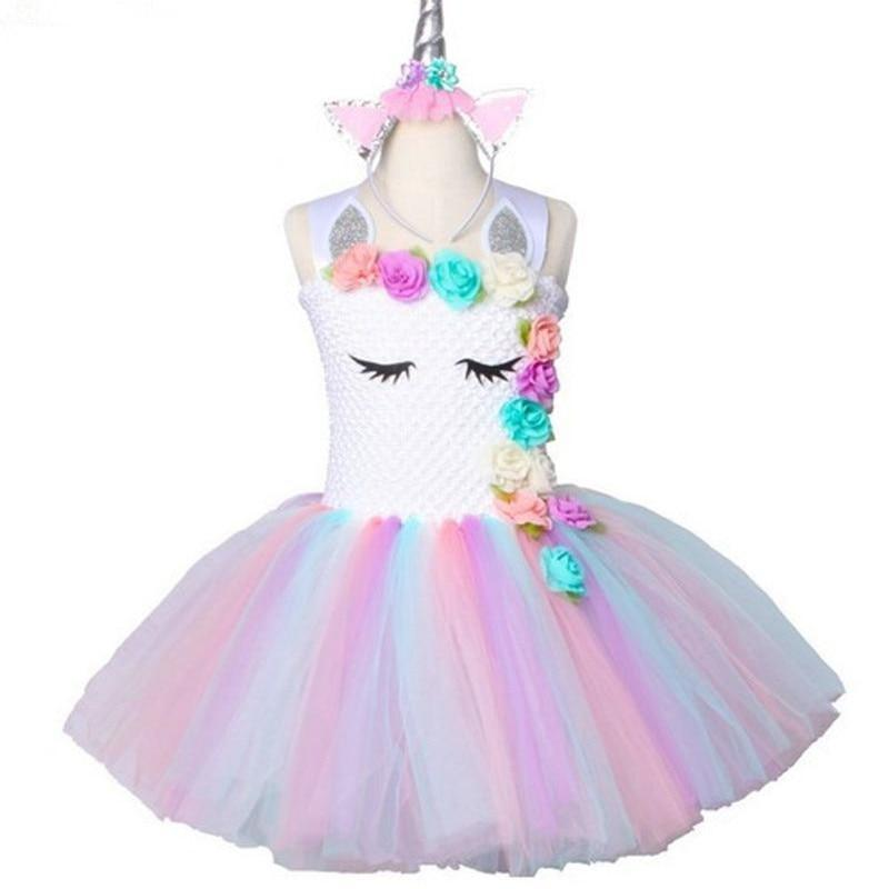Unicorn Rainbow Tutu Dress - The Palm Beach Baby