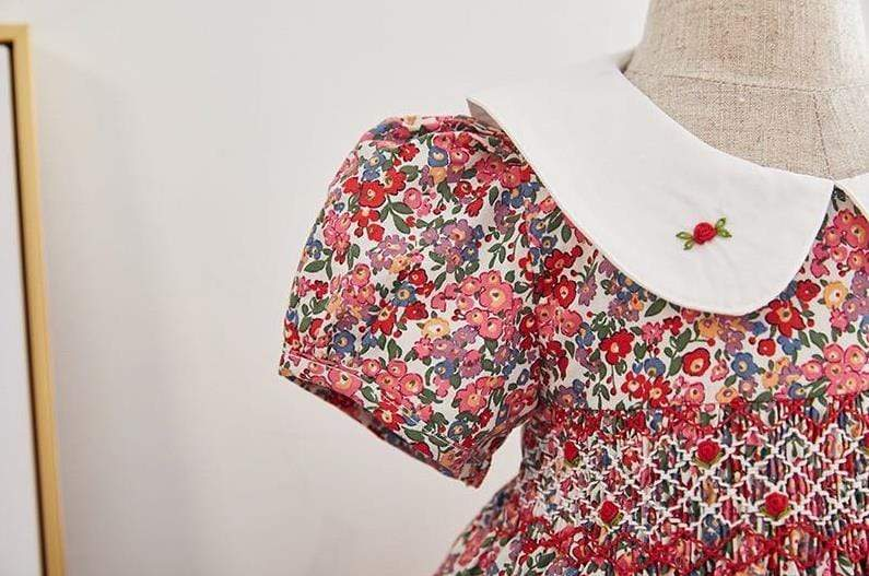 """Cammi"" English Floral Dress - The Palm Beach Baby"