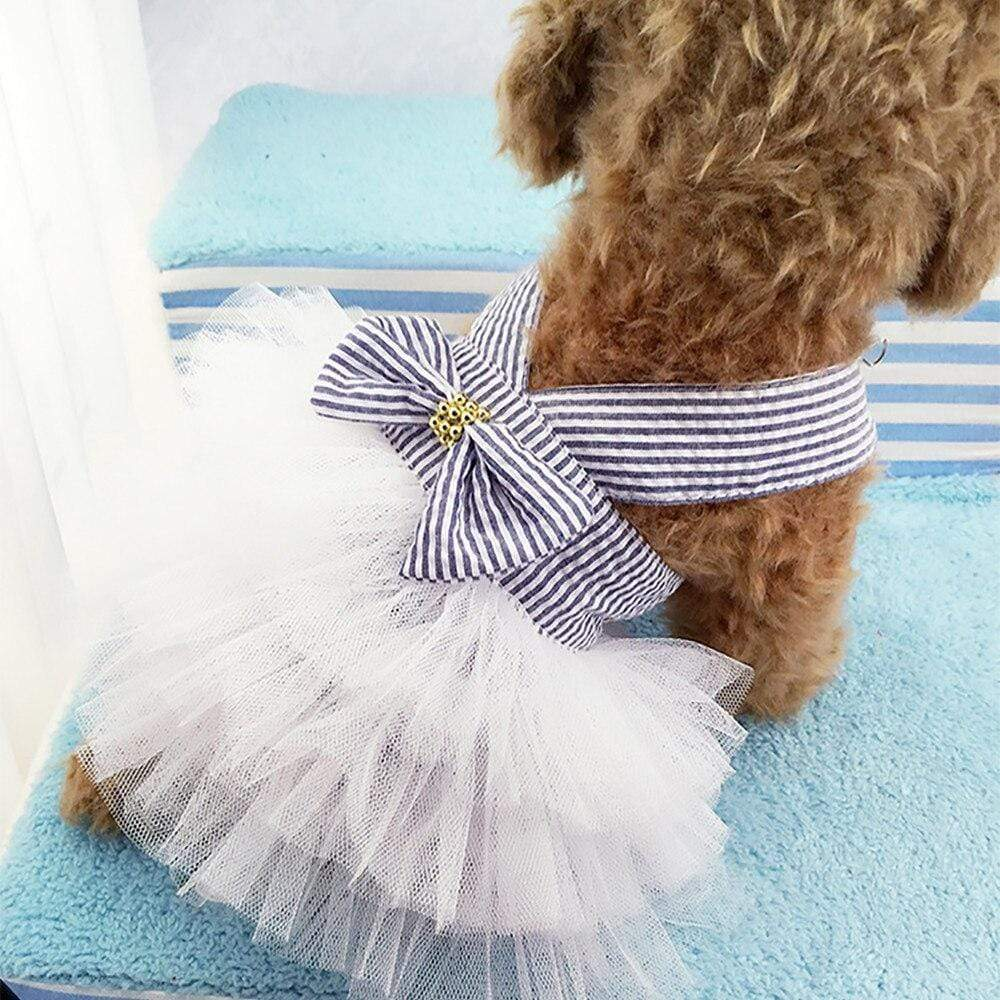 Lace Tulle Tiered Pet Dress - The Palm Beach Baby