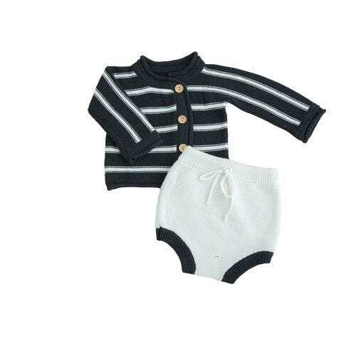 Adorable Sweater and Knitted Bubble Shorts Set - The Palm Beach Baby