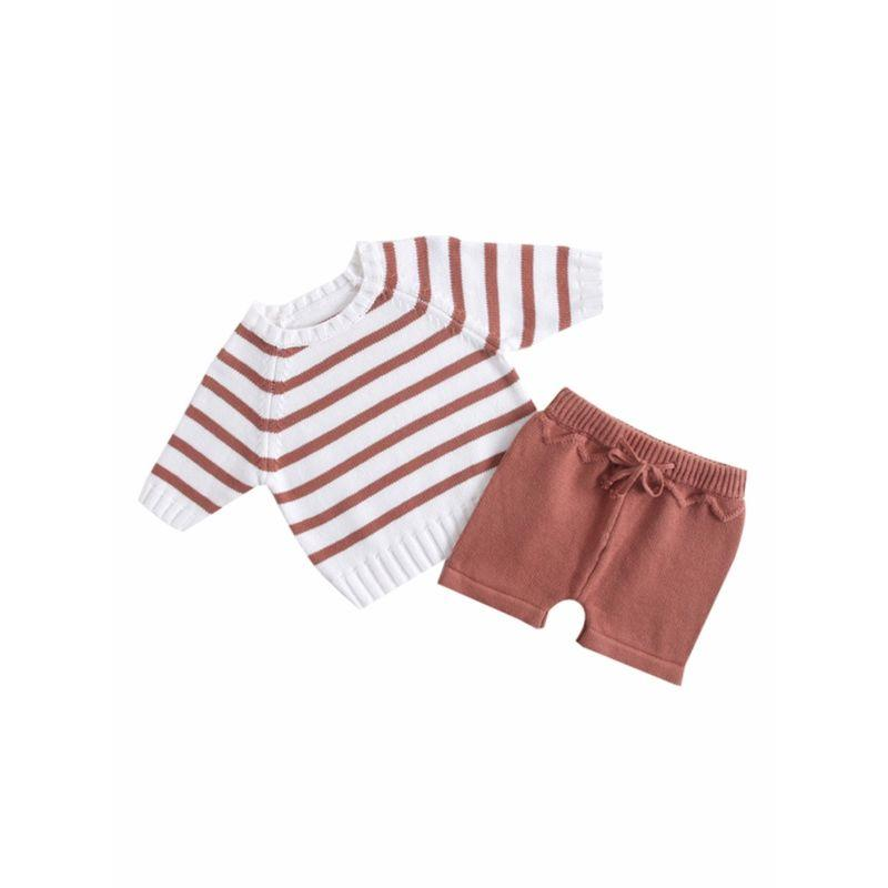 2-PC Baby Crochet Top & Shorts Set - The Palm Beach Baby