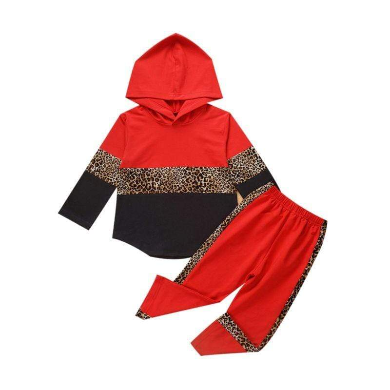2 PC Leopard Hoodie + Pant Track Suit - The Palm Beach Baby