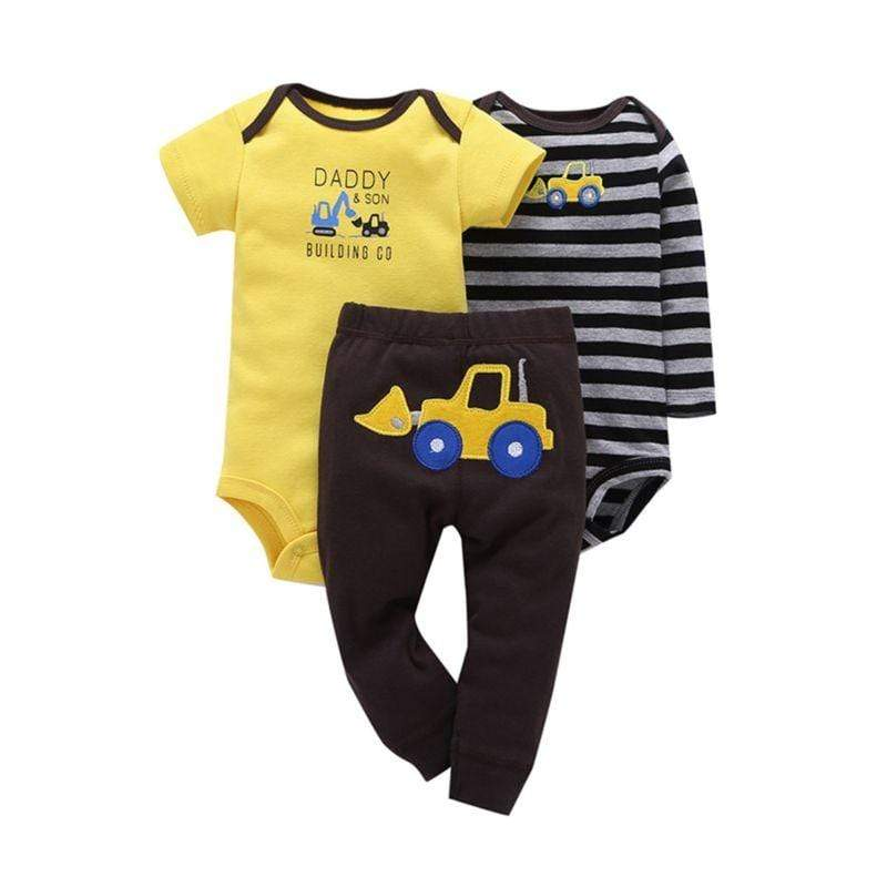 3 PC Baby Boys Rompers + Pants Set - The Palm Beach Baby