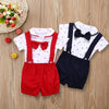 """My Little Man"" Suspender Shorts Set - The Palm Beach Baby"