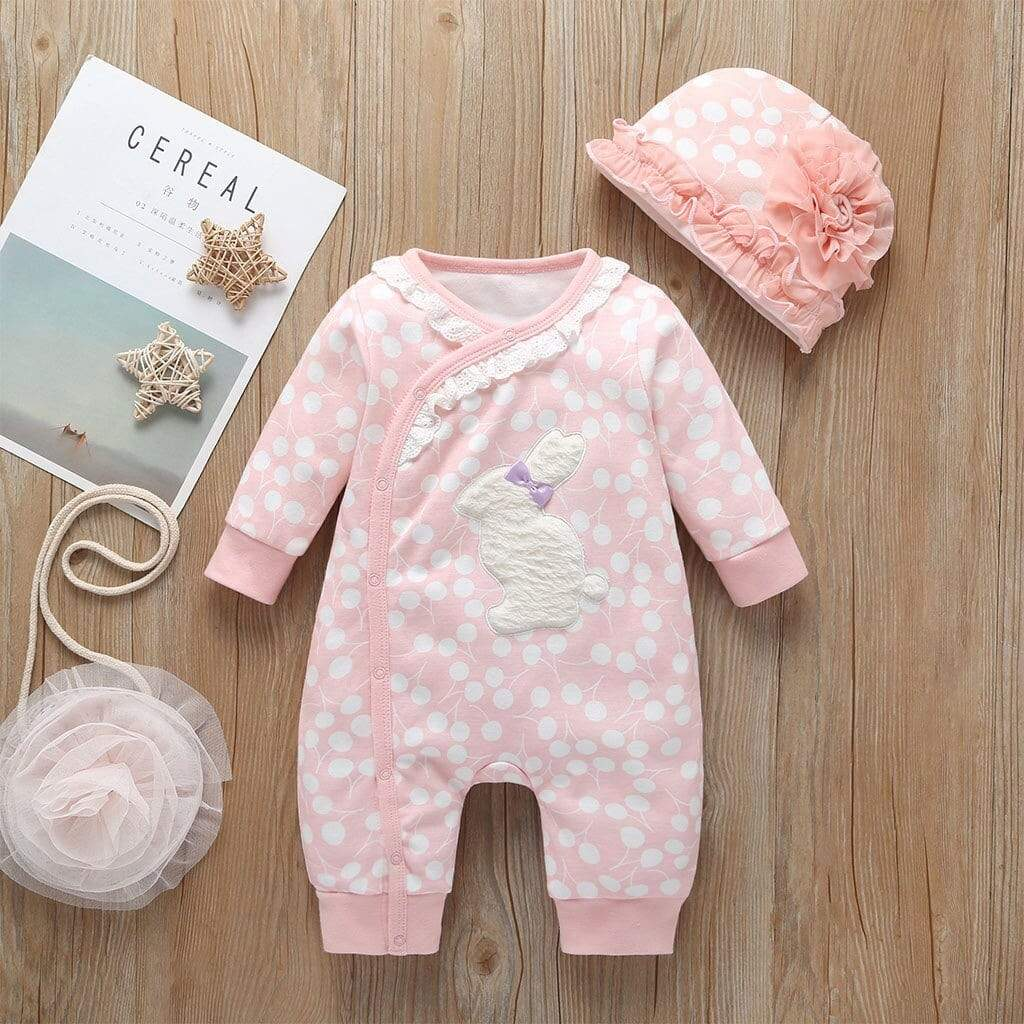 "Adorable ""Baby Bunny"" 2 PC Romper Set - The Palm Beach Baby"